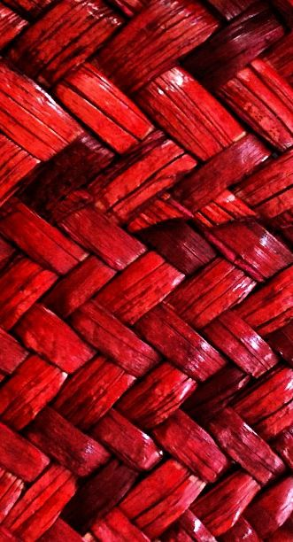 Red Wicker Work Texture
