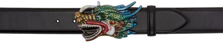 Gucci - Black Dragon Head Belt