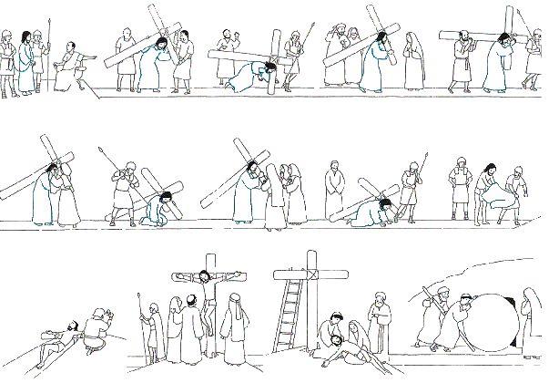 Chemin de croix à colorier