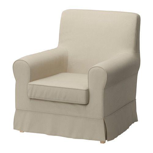? corner for reading w/ ottoman and pillow? EKTORP JENNYLUND Chair - Tygelsjö beige - IKEA