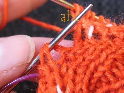 ABCsAnleitungen: Bumerangferse mit halben Zwischenreihen ohne Löcher