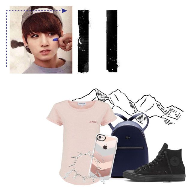 """Jungkook~ Simplicity"" by shaleens2 ❤ liked on Polyvore featuring Lacoste, Maison Labiche and Casetify"