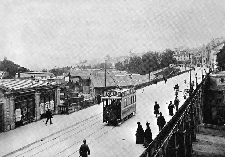 Vue sur le Grand-Pont depuis Saint-François 1896