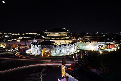 North Gate Entrance Janganmun To Suwon Hwaseong Fortress