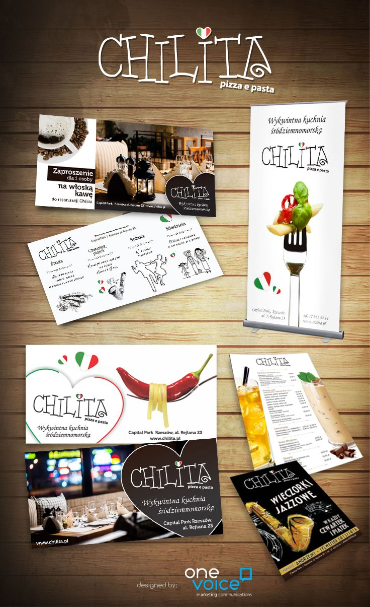 Chilita Pizza e Pasta - promotional materials