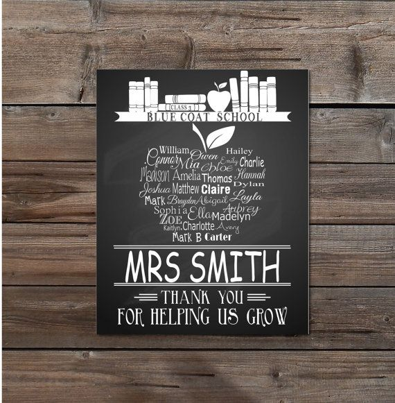 Wedding Gifts For Those Who Have Everything: Retirement Teacher Gift, Thank You, Word Art Apple, Gift