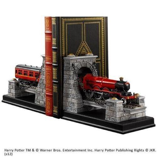 Harry-Potter-Zug-Der-Hogwarts-Express-Modell-Buchstuetze-DVD-Regal-19cm