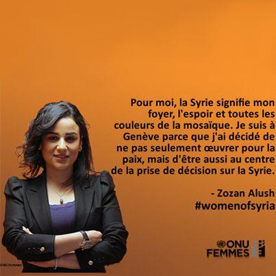 Fait marquant de la conférence sur la Syrie : les femmes syriennes ont demandé à être associées aux négociations. La représentation des Syriens ne peut et ne doit pas se résumer à une délégation du régime et une délégation de l'opposition. http://www.unmultimedia.org/radio/french/2014/01/geneve-2-les-femmes-syriennes-demandent-a-etre-associees-aux-negociations/