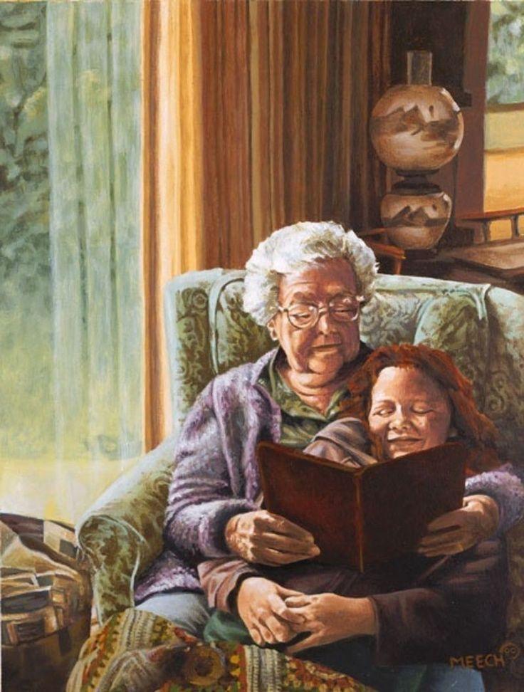 картинки старушки читают для