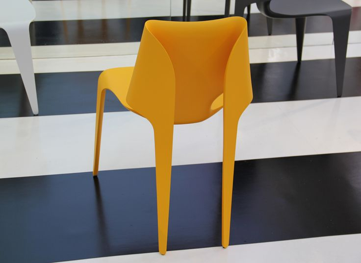 william sawaya: fei fei chair. Designed to replicate the folds of origami; made from a single sheet of material