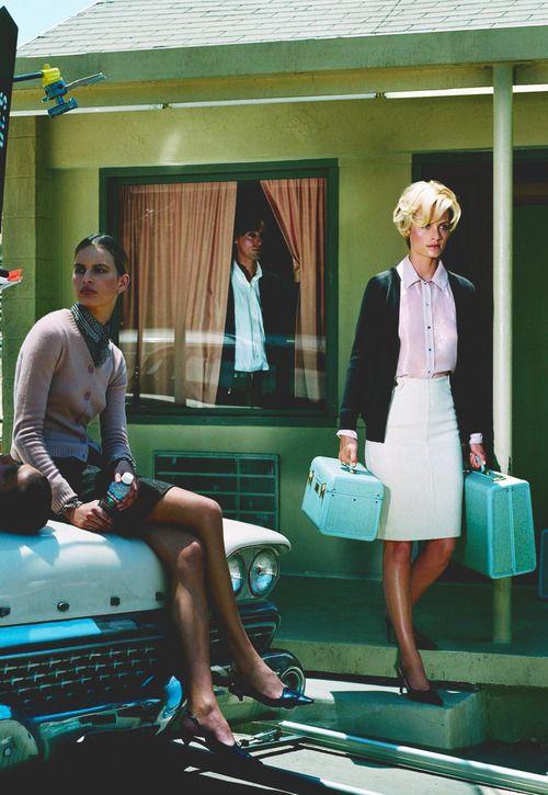 Karolina Kurkova & Amber Valleta by Steven Meisel for Vogue Italia