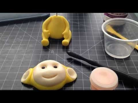 Fondant Teletubbies topper tutorial part 2_A Cake Newbs tutorial - YouTube