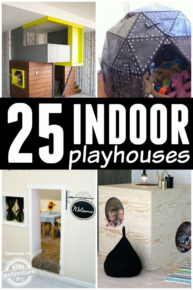 These indoor playhouses are incredible! So much fun for kids.