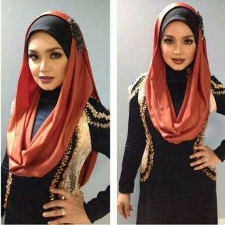 Ladies Head Covers, Infinity Hijab Styles, Hijab for Party Occasions