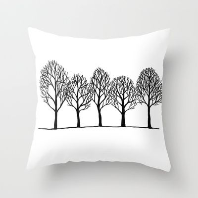 Trees Throw Pillow by Namia Design - $20.00
