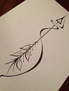 Arrow tattoo meaning: an arrow can only be shot forward by being pulled back. So when life is dragging you back with difficulties, it means that it's going to launch you into something great. So just focus, and keep aiming. by April*