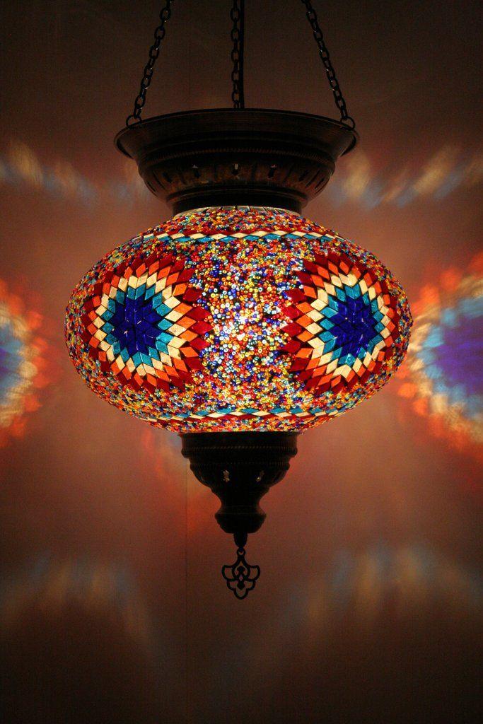 Handmade Mosaic Large Turkish Lantern – Bohomio