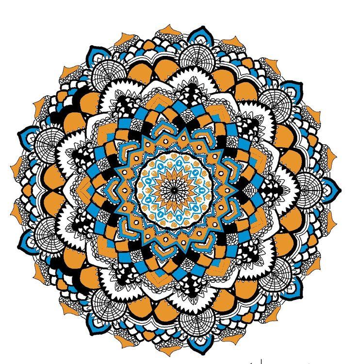 My fav:)  Mandala  Blue  Orange