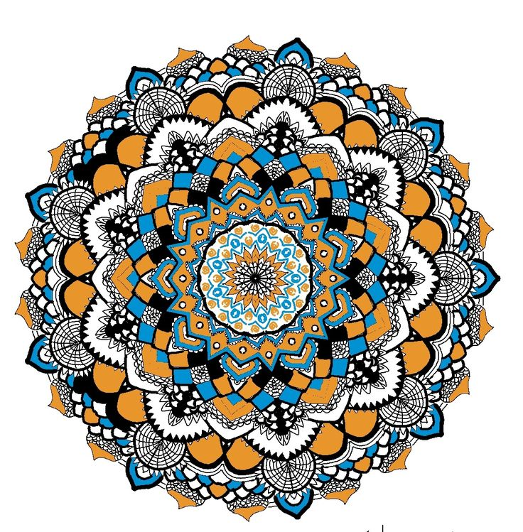 My fav:)  Mandala  Blue  Orange