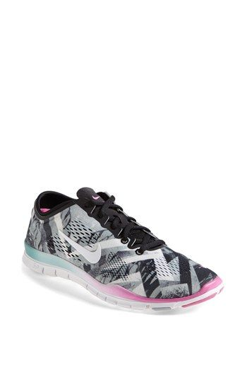 Nike Free 5.0 TR Fit 4 Print Training Shoe (Women) available at #Nordstrom