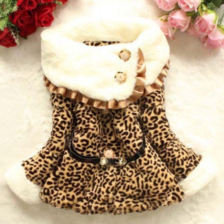 Haina imblanita cu imprimeu leopard pentru copii
