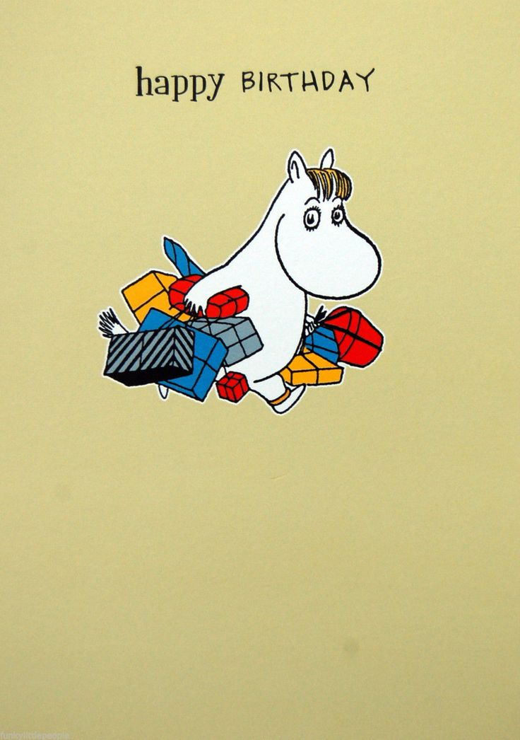 Moomin birthday card - SNORKMAIDEN WITH PRESENTS | £2.15 Buy it now