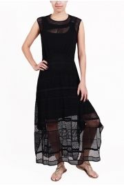 LONG MACRAME MESH Dress  We would pair this with some great gladiators or maybe some booties. Hmmmmmm