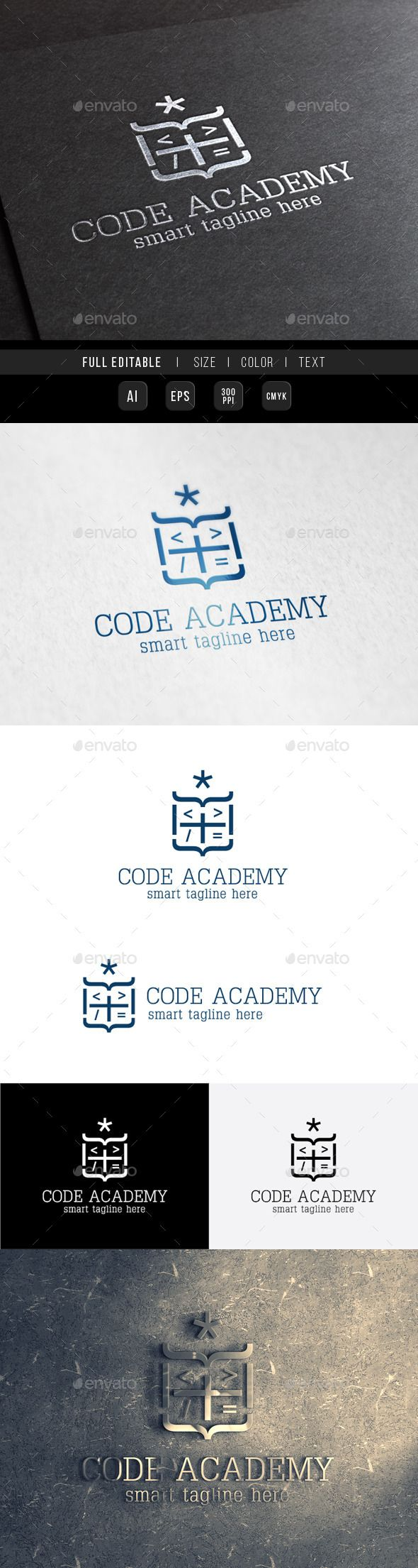 Royal King Code Academy — Vector EPS #web school #university • Available here → https://graphicriver.net/item/royal-king-code-academy/9966206?ref=pxcr