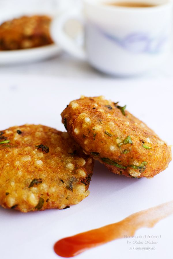 My Tasty Curry: Sabudan Vada: A Crispy Snack to Tide Over Monsoon Cravings
