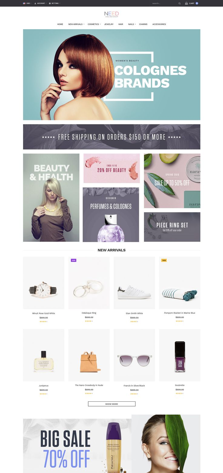 Ves Need is beautiful free magento 2 theme which is built with Bootstrap 3.x . Hence, it make your site display responsively on any kind of devices.