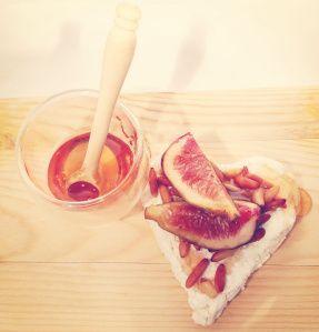 Ricotta, Fig, Pine Nut & Honey Crepe