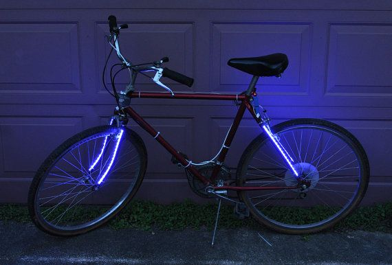 4 strips of 300 Blue IP 55 LED strips for your bike