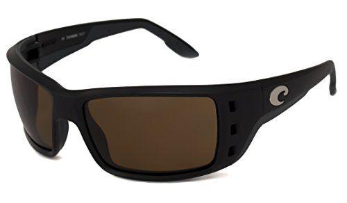 Costa Del Mar Sunglasses - Permit- Plastic / Frame: Ashwood Lens: Polarized Gray 580P Polycarbonate