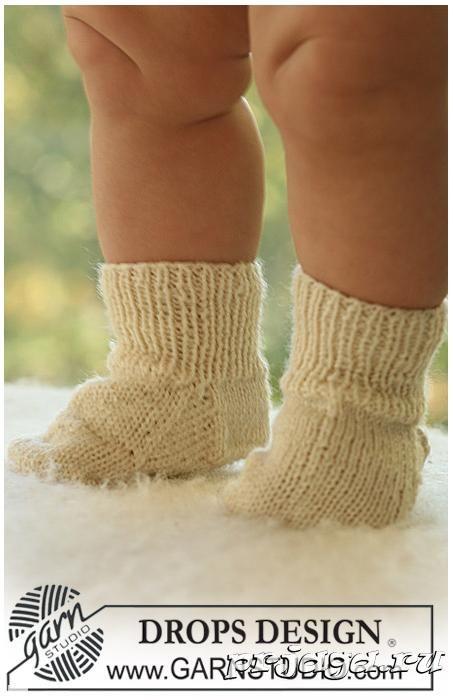 Вяжем носочки спицами