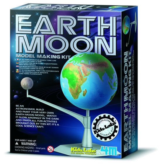 4M Kidzlabs Space Bouwset - Aarde-Maan Model