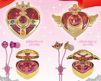 """sailor moon"" ""sailor moon compact"" ""sailor moon cosmic heart"" ""sailor moon crisis compact"" ""sailor moon merchandise"" ""sailor moon toy"" ""sailor moon 2014"" japan fashion earphone anime"