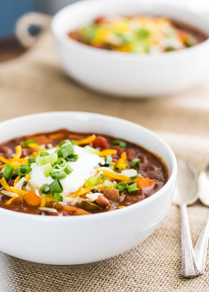 All-Star Sweet Potato Chili | a Couple CooksVegetarian Chili