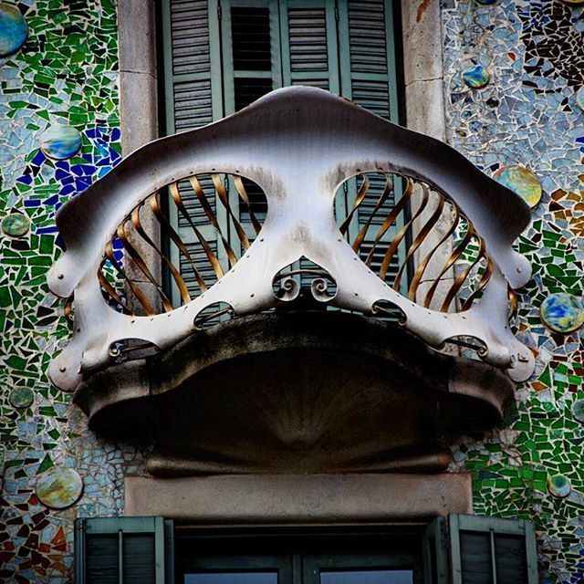 #tbt #spain #barcelona #gaudi #mask #structure #building #art #travel #vacation