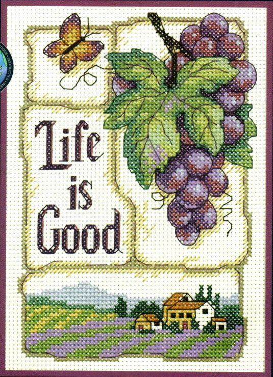 Cross-stitch Life is Good, part 1