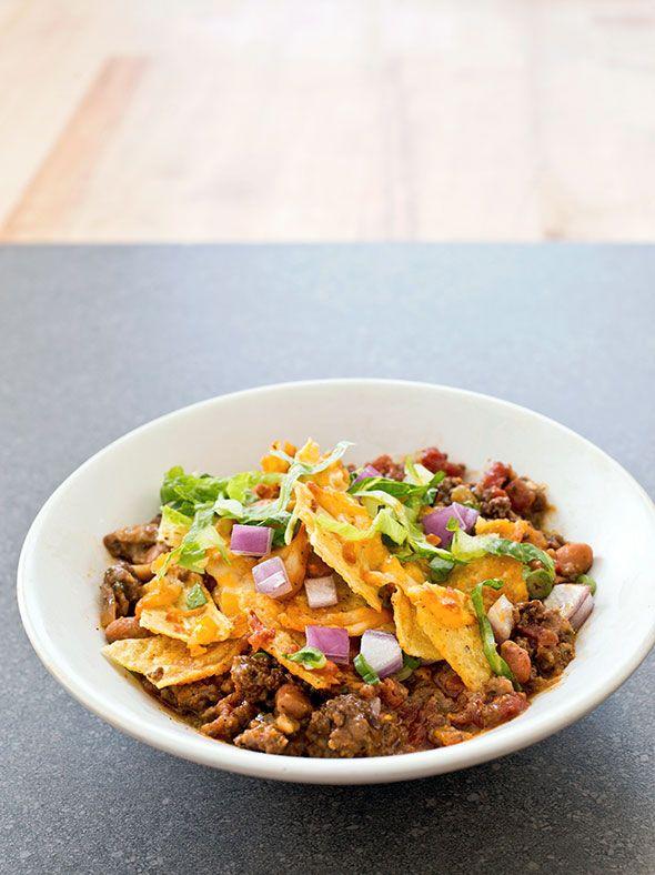 Spicy Beef Taco Bake Recipe Tacos Beef Spicy Beef Spicy Recipes