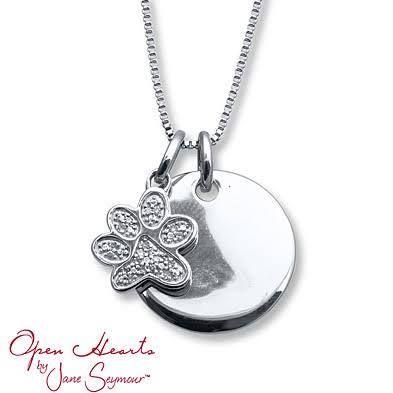 open hearts by jane seymour diamond dog necklace google. Black Bedroom Furniture Sets. Home Design Ideas