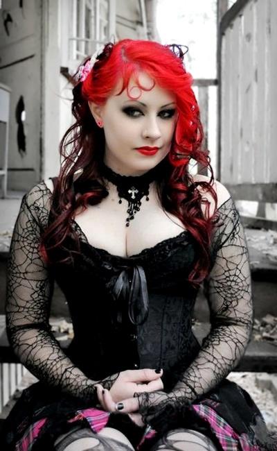 Sexy redhead goth chicks
