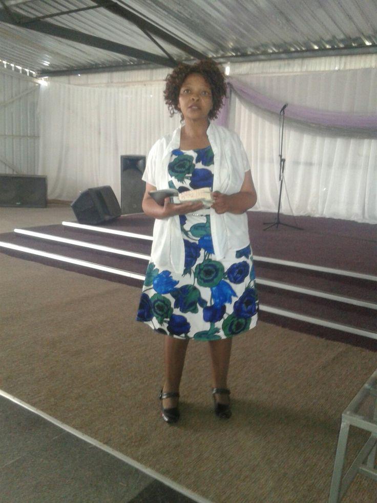 Woman of Faith: Mrs Lentsoele, leading the Intercession