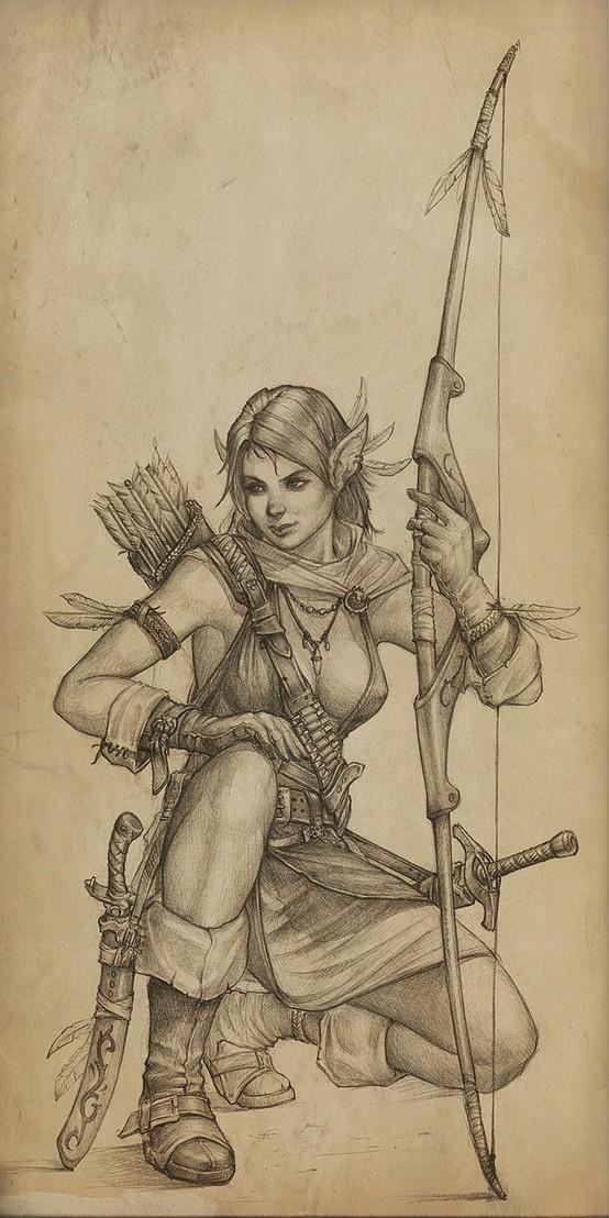 Elven Archer...this speaks to the nerd in me.