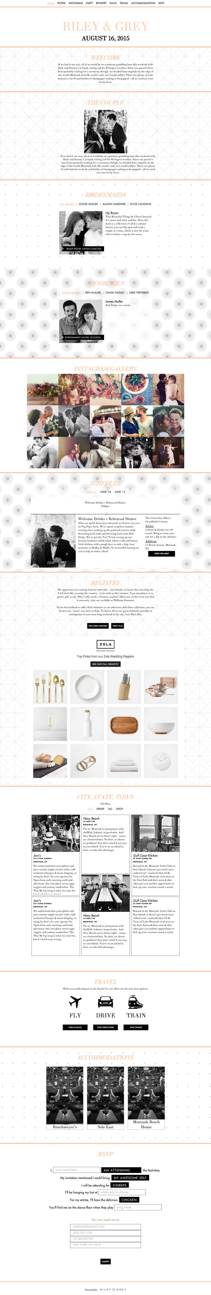 """""""Copper Tone"""" wedding website design by Riley & Grey (graphic design, wedding planning, wedding website examples)"""