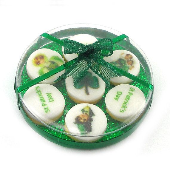 St Patrick's Day Cookies   Dollhouse Miniature by DollhouseKitchen, $28.00