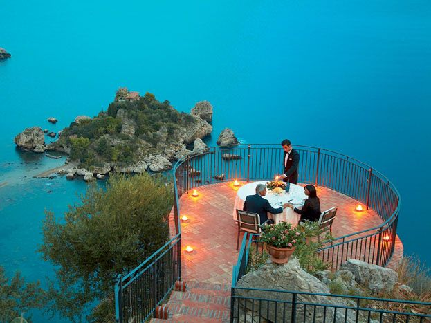 Grand Hotel San Pietro Taormina in Sicily. The ideal place to discover this land of historic ruins and steep cliffs #RelaisChateaux #Italy #MountEtna #incredibleview