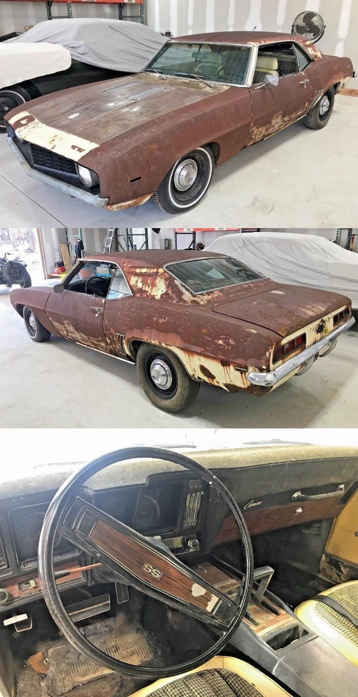 1969 Camaro Project Car For Sale : camaro, project, Running, Chevrolet, Camaro, Project, Sale,, Camaro,