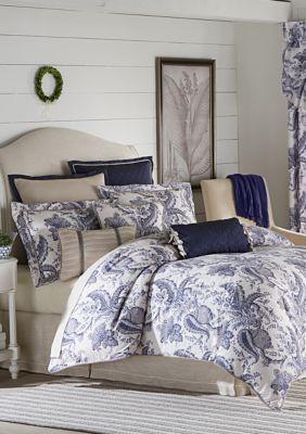 Biltmore  Emilia Comforter Set - Blue - Queen