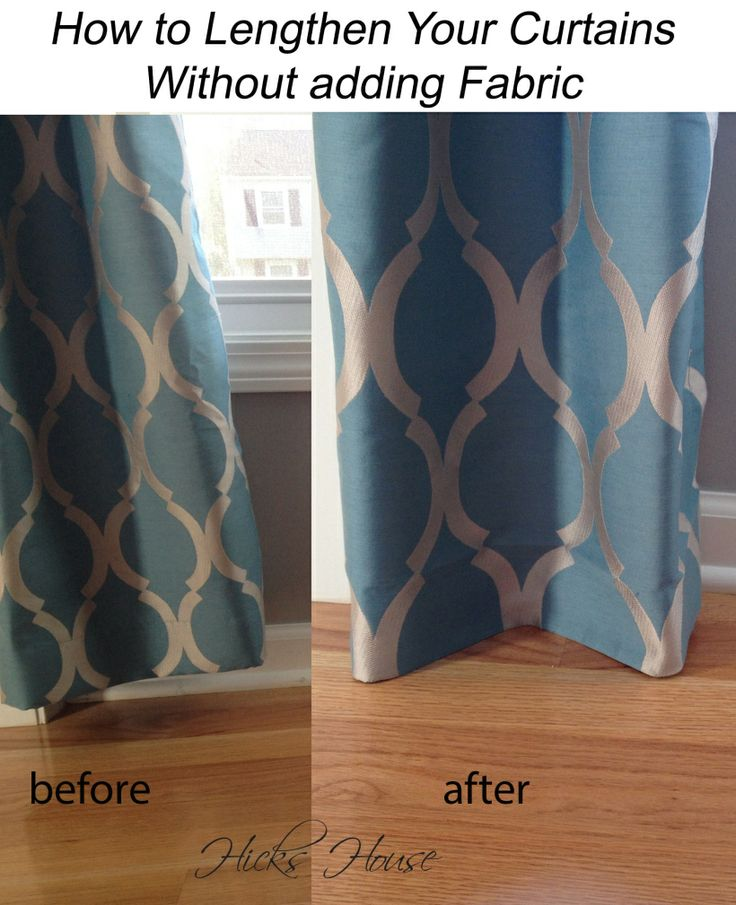 How to legthen store bought curtains without adding fabric | Hicks House
